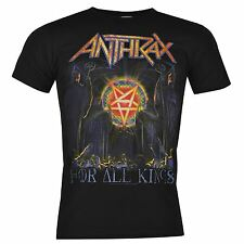 Anthrax Official For All Kings T-Shirt Mens Black Top Tee Shirt