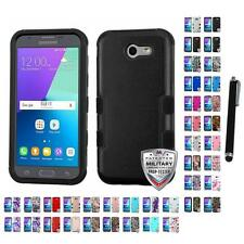 For Samsung J3 J327P 2017 TUFF IMPACT Phone Case Hard Rugged Cover Stylus Pen