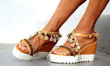 Delos Art, Sandal wedged Heel, Platform, Greek leather sandals, boho sandals,