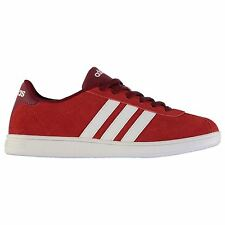 adidas VL Court Suede Casual Trainers Mens Red/Burg/Wht Shoes Trainers Sneakers