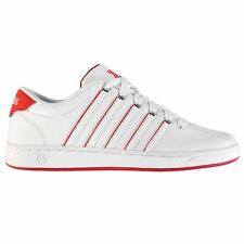 K Swiss Court Pro II SP Trainers Mens White/Red Sports Shoes Sneakers Footwear
