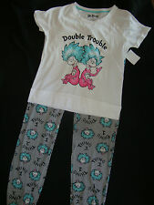 "DR SUESS THING 1 & THING 2 - 2 piece  PAJAMAS NWTS LADIES ""DOUBLE TROUBLE"""
