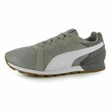 Puma Pacer Runner Trainers Mens Grey Sports Shoes Sneakers Footwear