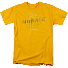 MORALE (MORE ALE) IS GOOD BEER MUG Humorous Adult T-Shirt All Sizes