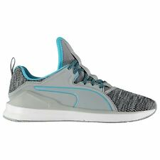 Puma Fierce Knit Running Shoes Womens Grey Trainers Sneakers Sports Shoe
