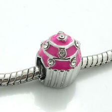 1pcs Silver European Charm Beads Fit 925 Necklace Bracelet jewelry (5 colors)#10