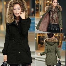 New Women Winter Warm Coat Fur Hooded Parka Thicken Long Overcoat Jacket Outwear