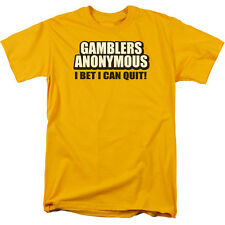 GAMBLERS ANONYMOUS I BET I CAN QUIT! Humorous Adult T-Shirt All Sizes