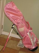 Lynx Pink Girls Junior Golf Club Standing Bag Backpack Style Right Handed NICE