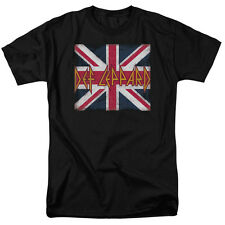 Def Leppard Rock Band UNION JACK Licensed Adult T-Shirt All Sizes