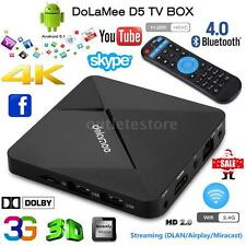 Dolamee D5 Android 5.1 Smart TV Box Fully Loaded 4K Quad Core Wifi 3D Media R5J6
