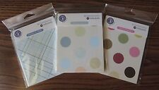 Ki Sentiments 10 Blank Note cards with Envelopes Polka Dots or Plaid You Choose