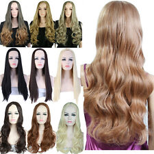 Synthetic Half Wig 3/4 Full Wig Long Curly Straight Costume Party Daily Dress RS