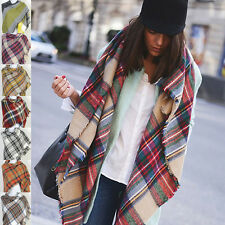 lady Checked Plaid Scarf Grids Large Tartan Wrap celeb Shawl Stole Pashmina Hot