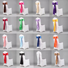 1PCS Wedding Organza Satin Chair Cover Sash Bow Ribbon Party Banquet Decoration