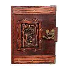 Handmade Real Leather Journal Brown Diary Notebook Sketchbook Chinese Dragon