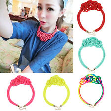 Hot Sale New Fashion Chinese Womens Knot Rope Weaving Fluorescent Charm Necklace
