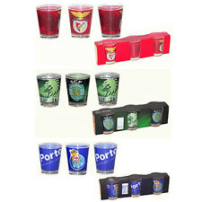 SL Benfica FC Porto Sporting CP Portugal Glass Shot Cups