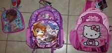 Sanrio Hello Kitty Disney Sofia First Princess Backpack Doc McStuffins Lunch BAG