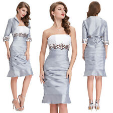 New Free Jacket mother of the bride dress Evening Party formal Gown outfit/Suit