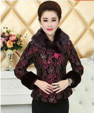 New style Chinese women's winter cotton jacket coat Cheongsam Sz: 8 10 12 14 16