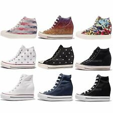 Converse Chuck Taylor All Star Lux Women Classic Wedges Hidden Heel Shoes Pick 1