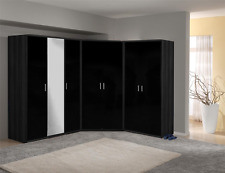 Khabat Gloss Bedroom Set Corner Wardrobe 2 3 4 5 6 7 8 Door + Drawers 3 Colours