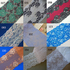 9 Colors Stretch Floral Lace Black,White,Turquoise,Tust Red,Baby Pink/Blue zh3