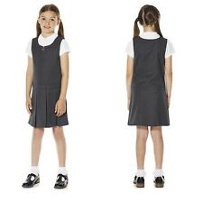 Ex Chainstore Girls Grey Pleated Pinafore Dress School Uniform 3 to 9 Years