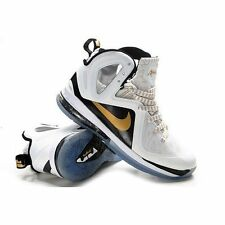 "LEBRON 9 P.S. ELITE 516958-100 WHITE/METALLIC GOLD-BLACK  ""HOME"""