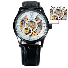Sewor Automatic gents Mens Watch Skeleton movement Fashion Casual Mechanical New