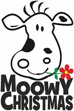FUNNY CHRISTMAS T SHIRT CUTE ANIMAL MOO COW T SHIRT MOOWEY CHRISTMAS XMAS TOP