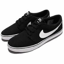 Nike SB Portmore II 2 Solar CNVS Canvs Men Black Shoes Skate Boarding 880268-010