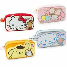 JAPAN SANRIO KITTY MY MELODY CINAMOROLL CANVAS CANVAS PENCIL CASE COSMETIC BAG