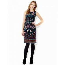 Ex Monsoon Pretty Navy Blue Floral Claudia Summer Party Dress Size 8-18 RRP £70