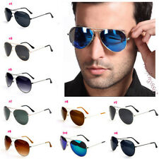 Fashion Unisex Women's Men Vintage Retro Glasses Aviator Mirror Lens Sunglasses