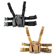Dual Magazine Pouches Gun Drop Leg Holster for Beretta M9 M92  Right Hand
