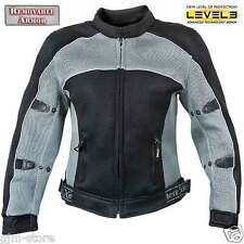 Xelement CF507 Womens Gray Black Lightweight Sports Armored Motorcycle Jacket