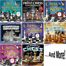 Chess Software Games Assortment PC Windows XP Vista 7 8 10 Sealed New