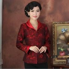Fashion Chinese Women's silk jacket coat Cheongsam Sz: 8 10 12 14 16