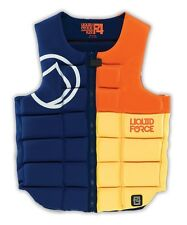 Liquid Force Flex Wakeboard Watersports Impact Vest L, Blue/Black Orange. 51100