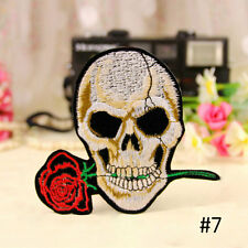 Skeleton Wolf Embroidered Applique Iron On Patch DIY Cloth Sewing Cool Badge hot