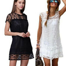 Fashion Embroidery Floral Lace Tassels Summer Sexy Club Party Hot Mini Dress