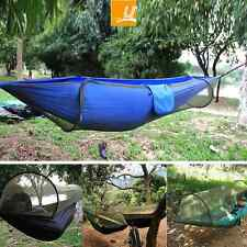 Latest Version! Camping Bushcraft Jungle Hammock Tent Replacement + Mosquito Net