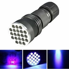 UV Ultra Violet 21 LED Flashlight Blacklight Light 395 nM Inspection Lamp Torch