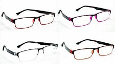 MT115 Rubber & Acetate 2017 Framed Reading Glasses 4 Colours +1.0 up to +2.75