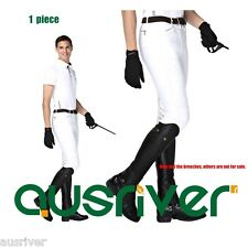 Mens Jodhpurs Breeches Super Stretchy Competition Breeches Horse Riding White