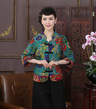 Fashion Chinese Women's Linen jacket /coat Cheongsam Sz: 8 10 12 14 16