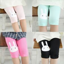 Toddler Kids Girls Baby Cotton Pants Rabbit Stretch Warm Leggings Trousers QW