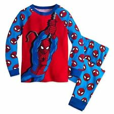 NWT Disney Store SZ 4 or 5 Marvel Superhero Spiderman PJs Pajamas Sleep Set NEW